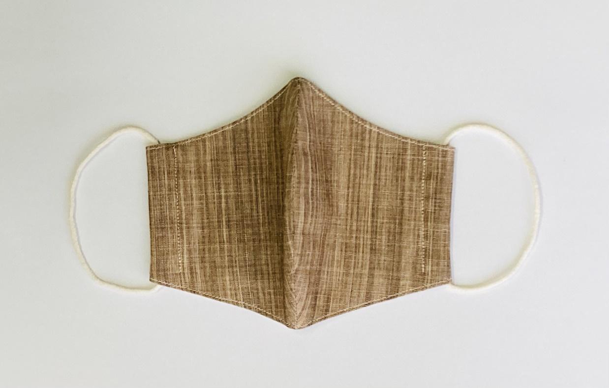 シルク in マスク オーガニックタンガリー 柿渋 シルクを挟んだ布マスク 洗えるマスク