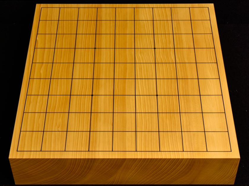 本榧卓上将棋盤 t5379