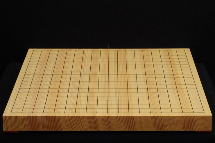 碁盤 新かや10号一枚板 本漆太刀盛 松印