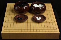碁盤 新かや20号卓上竹印ガラス碁石Cセット