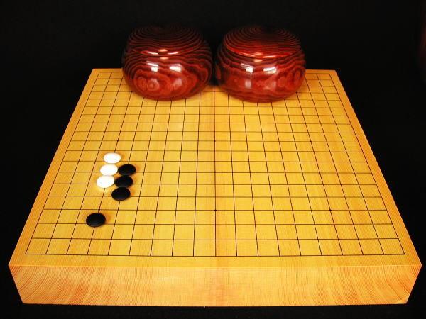 碁盤 新かや20号卓上松印ガラス碁石Aセット