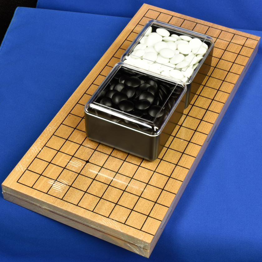 折碁盤ガラス碁石セット A