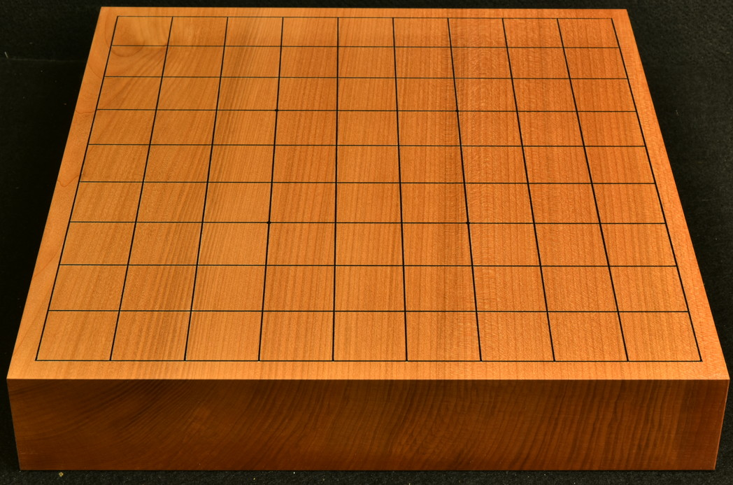 将棋盤 本桂20号卓上 一枚板 松印