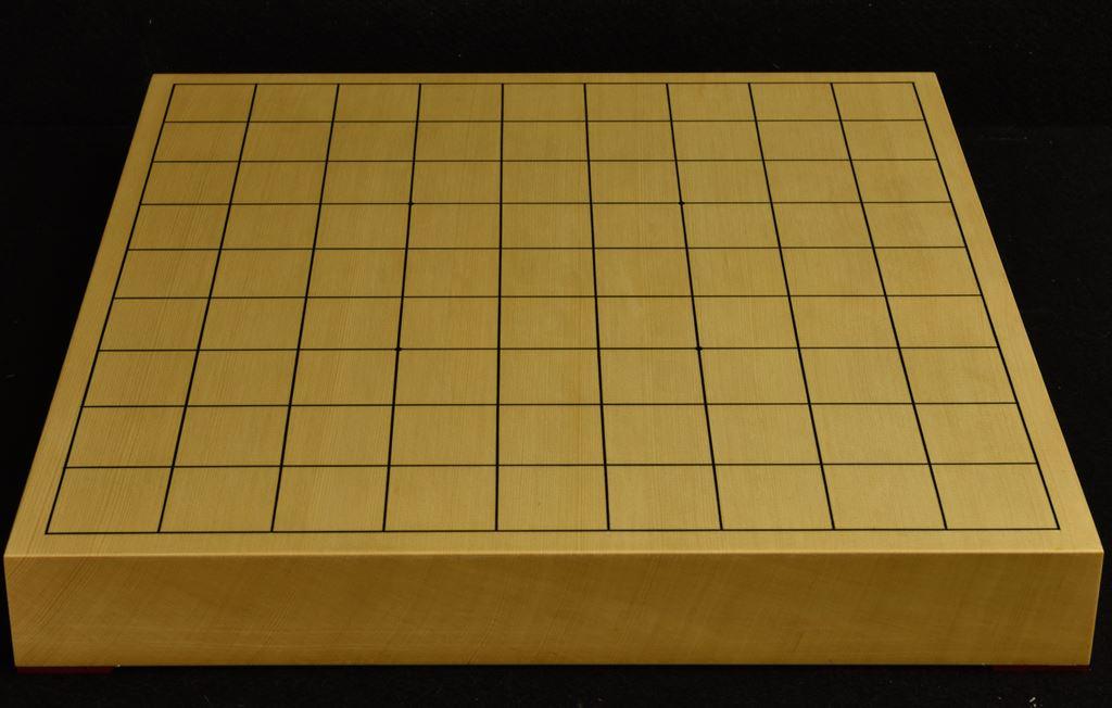 将棋盤 ヒバ15号卓上 一枚板松印