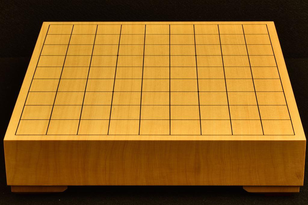 将棋盤 ヒバ20号卓上 一枚板駒脚付