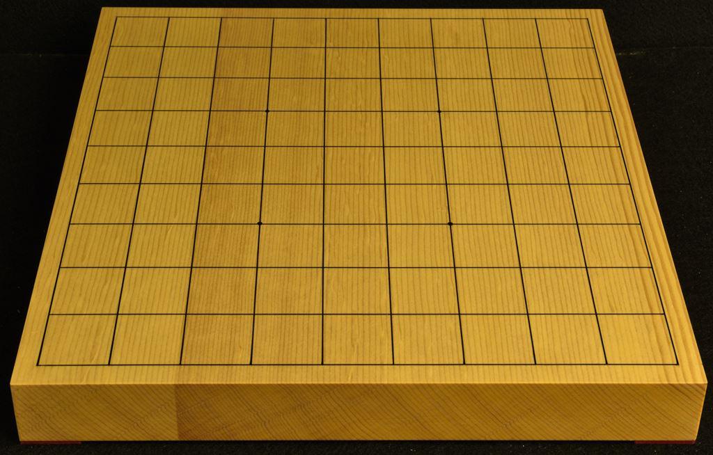 将棋盤 新かや15号卓上 本漆太刀目盛 松印