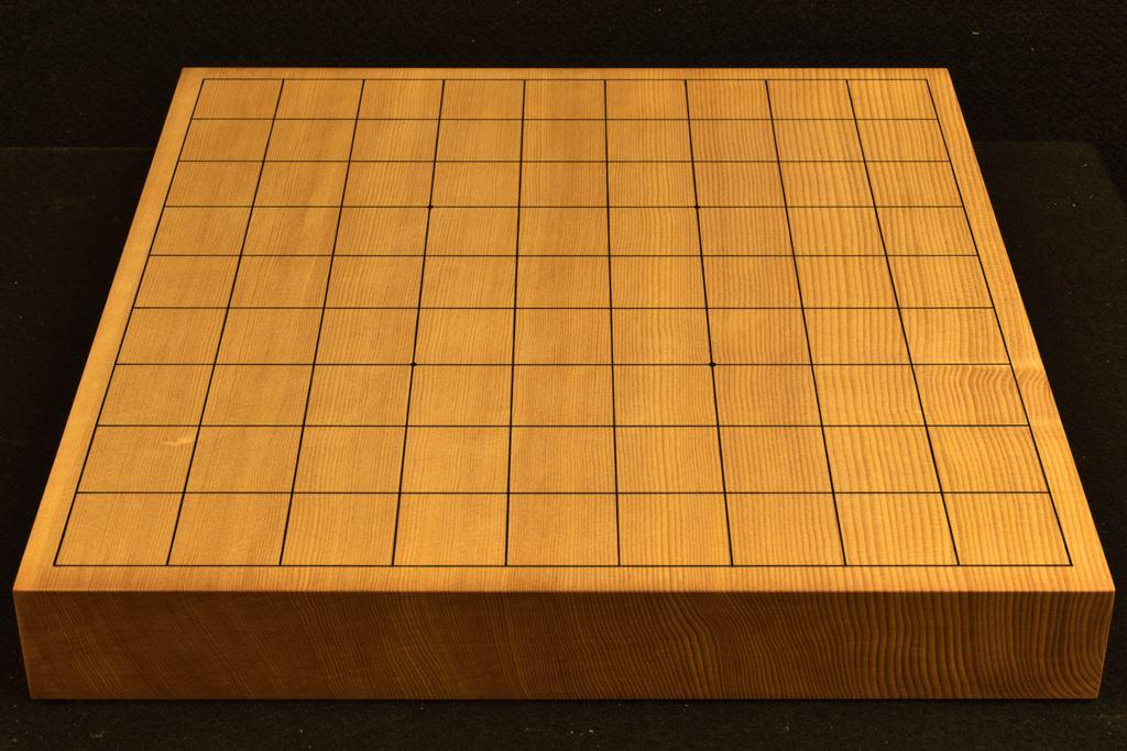 将棋盤 新かや15号卓上 一枚板 本漆太刀目盛 竹印