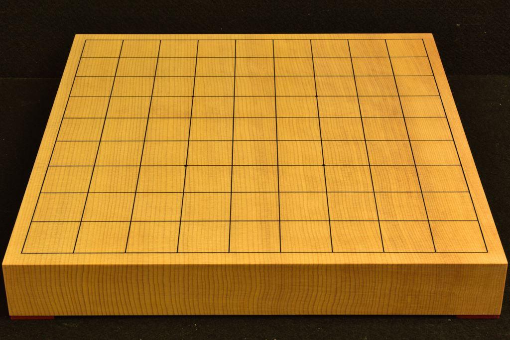 将棋盤 新かや15号 一枚板 本漆太刀目盛 松印