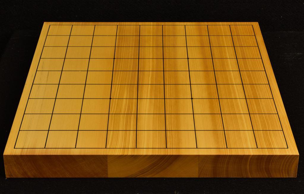 本榧卓上将棋盤 t6258