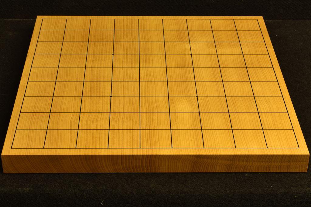 卓上将棋盤 本榧(中国産) 一枚板 t6343