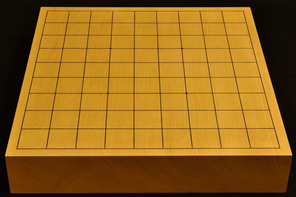 卓上将棋盤 本榧(中国産) 一枚板 t6356