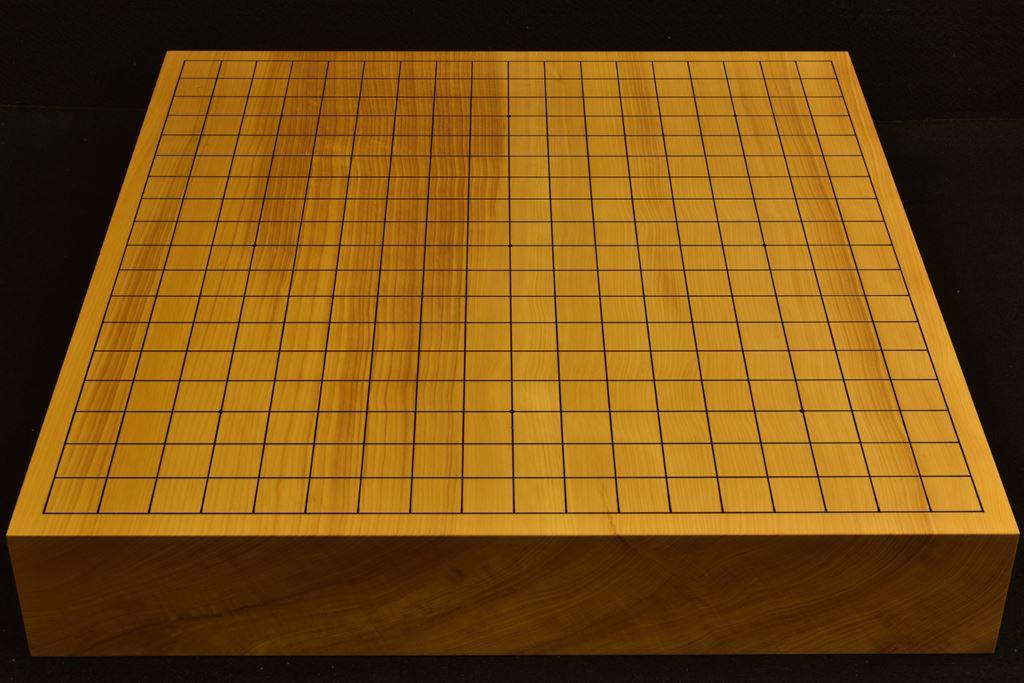 碁盤 本榧卓上 柾目一枚板t6370