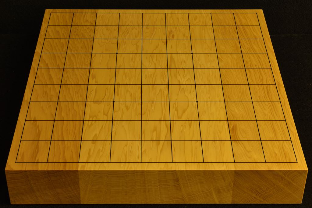 卓上将棋盤 本榧板目接合 t6400