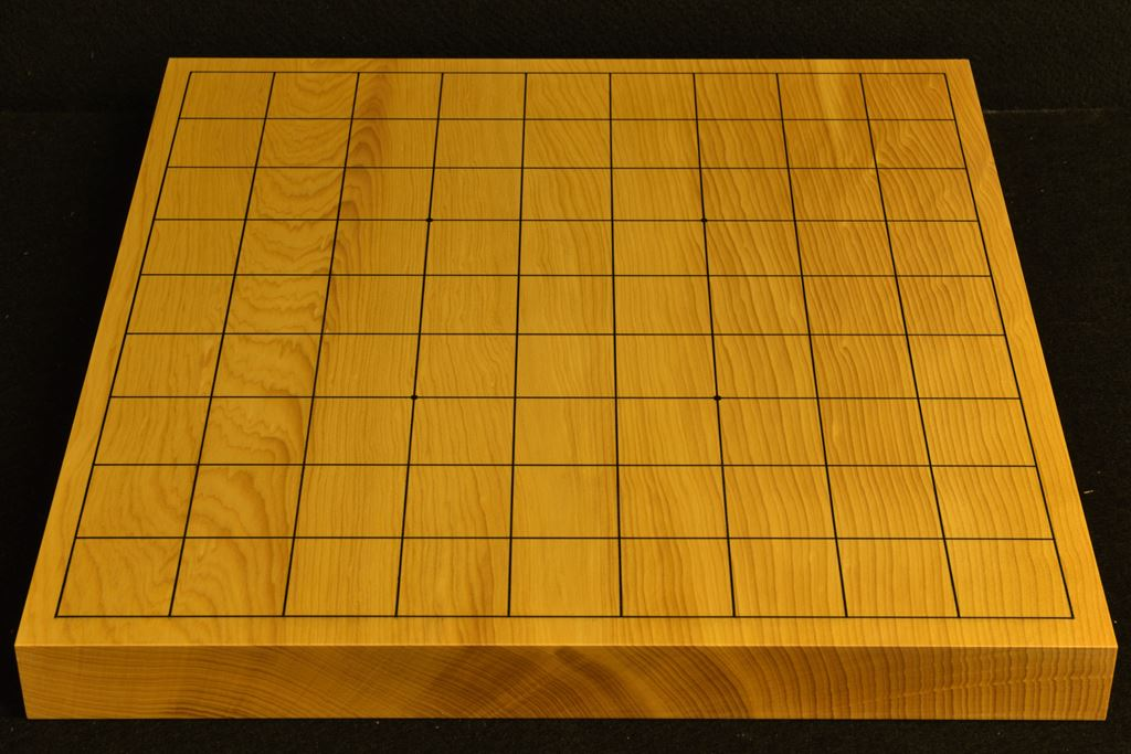卓上将棋盤 本榧(中国産) 一枚板 t6405