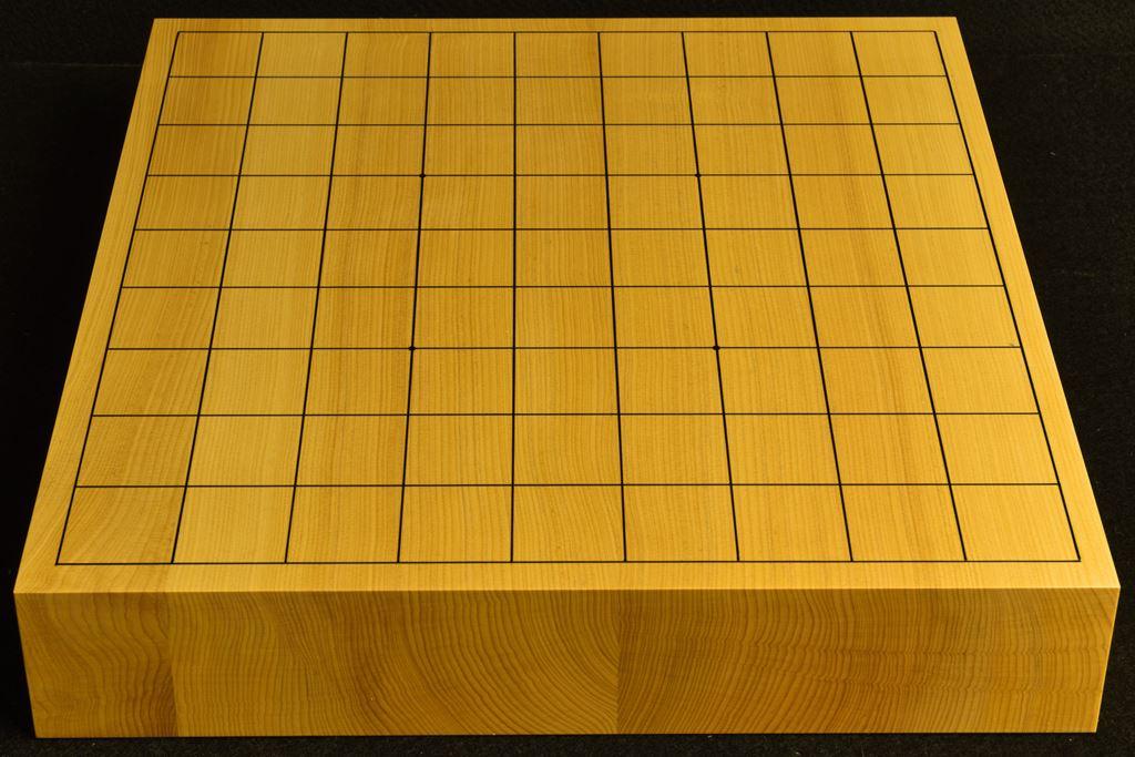 卓上将棋盤 本榧(日本産) 柾目接合 t6446