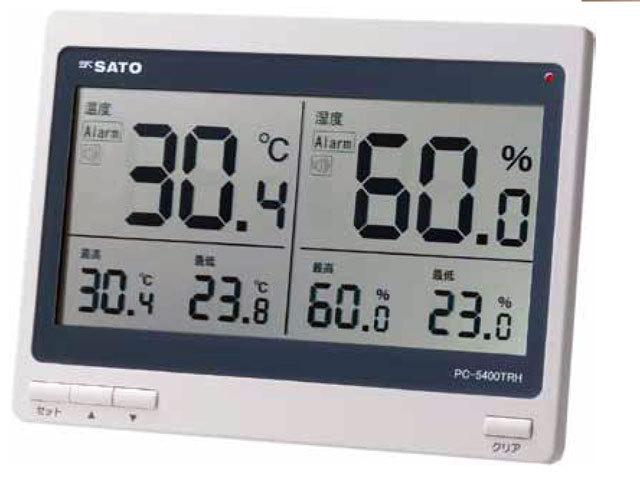 大型デジタル温湿度計PC-5400TRH