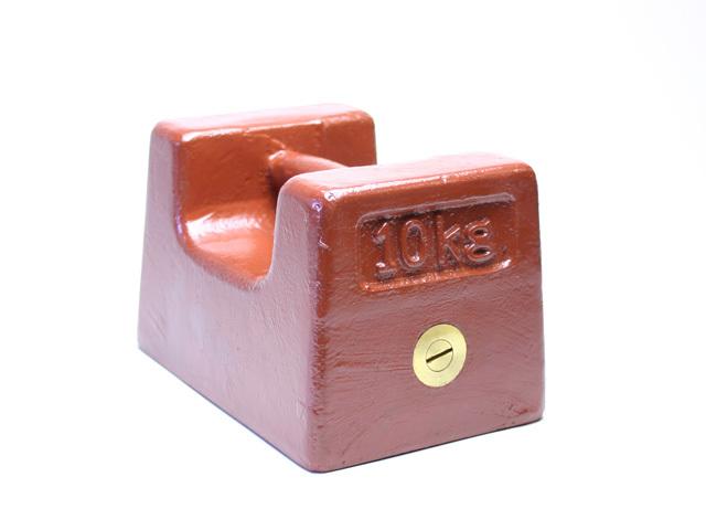 鋳鉄製枕型分銅10kg