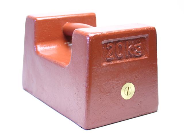 鋳鉄製枕型分銅20kg