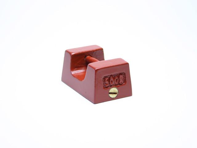 鋳鉄製枕型分銅500g