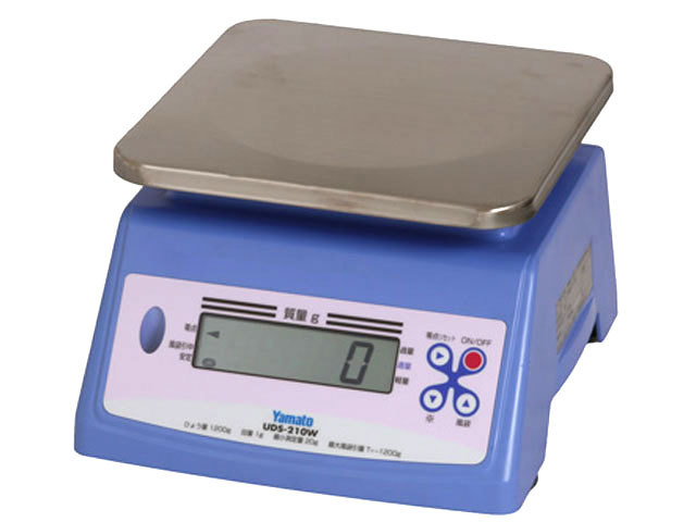 防水防塵タイプのデジタル上皿はかりUDS-210W