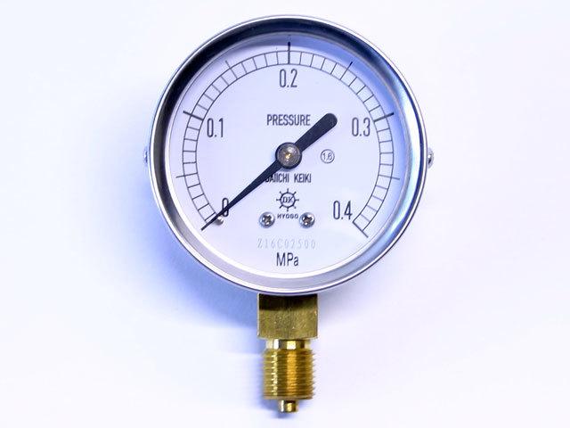 汎用型圧力計 HNT AT 60φ 0.4Mpa 第一計器製作所
