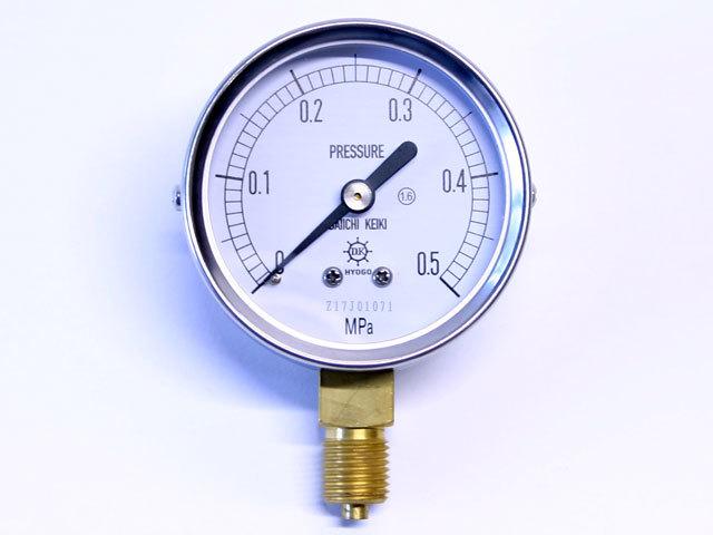 汎用型圧力計 HNT AT 60φ 0.5Mpa 第一計器製作所