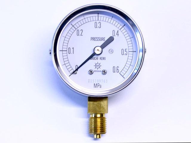 汎用型圧力計 HNT AT 60φ 0.6Mpa 第一計器製作所