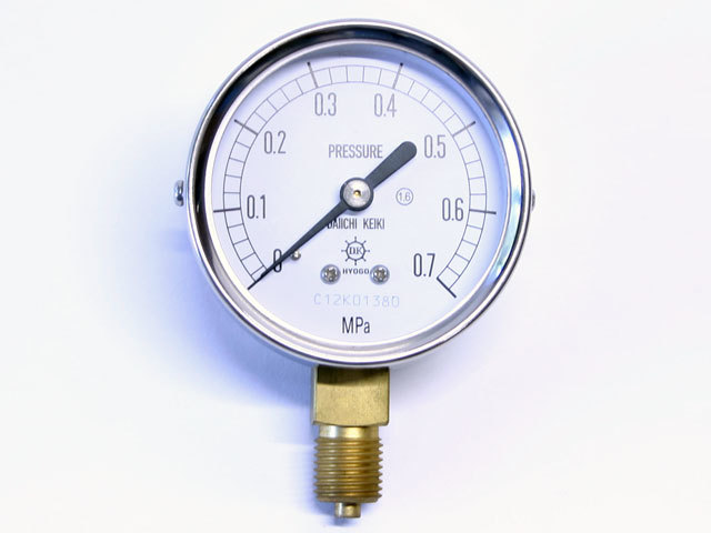 汎用型圧力計 HNT AT 60φ 0.7Mpa 第一計器製作所