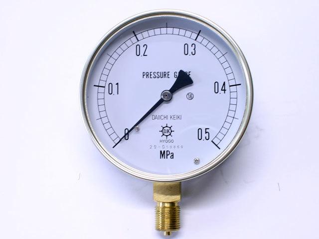 汎用型圧力計 HNT AT 100φ 0.5Mpa 第一計器製作所