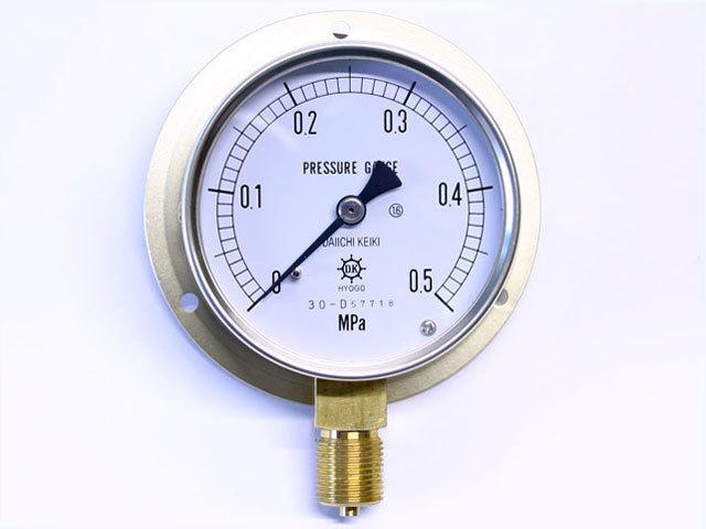 汎用型圧力計 HNT BT 75φ 0.5Mpa 第一計器製作所