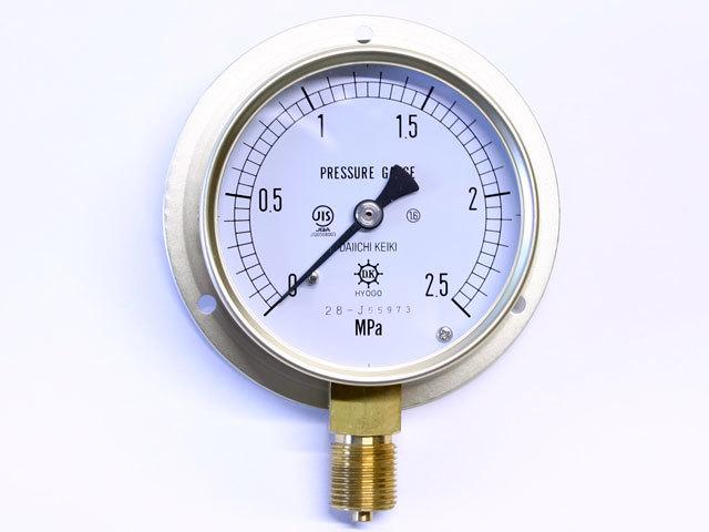 汎用型圧力計 HNT BT 75φ 2.5Mpa 第一計器製作所