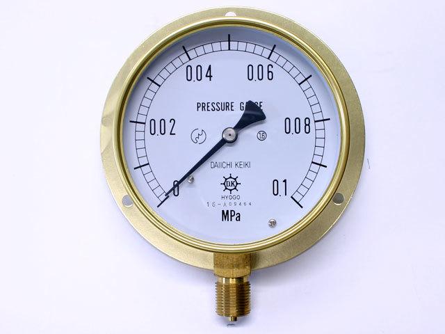 汎用型圧力計 HNT 100φ 0.1Mpa 第一計器製作所