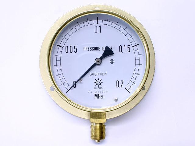 汎用型圧力計 HNT BT 100φ 0.2Mpa 第一計器製作所
