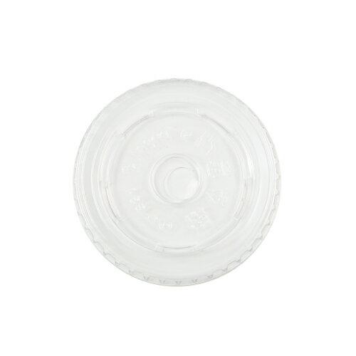 ★プラカップ9用平型LIDストロー穴(80パイ用) 100枚