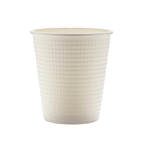 断熱紙コップ エンボス ホワイト