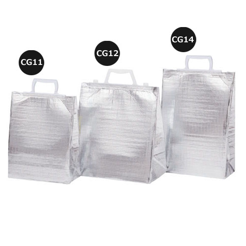 ミナクールパック CG12 保冷袋アイス用手提げ 折込V M 100枚