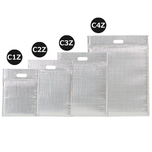 ミナクールパック C2Z 保冷袋ジップ付 M(平袋)100枚