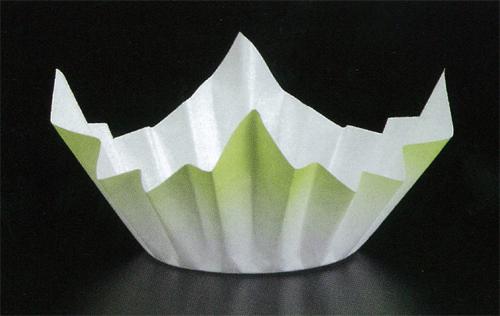 ミニ色和紙鍋 緑色1500枚