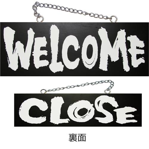 kuro木製サイン中/横 3981 WELCOME