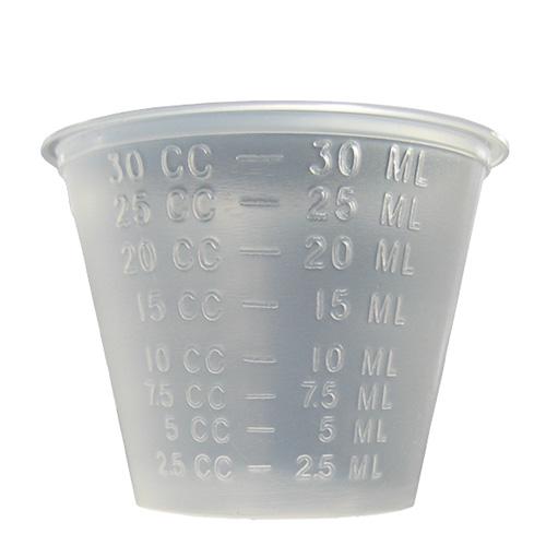 ★PP1ozカップ半透明(目盛入) 100個