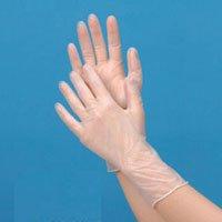 【食品対応】★プラスチック手袋ハイクリーン(粉付)SS 100枚