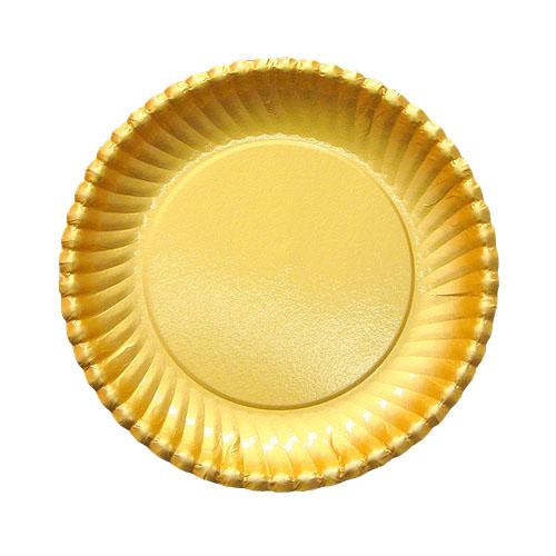 紙皿ゴールドプレート(菊型)6号 1500枚