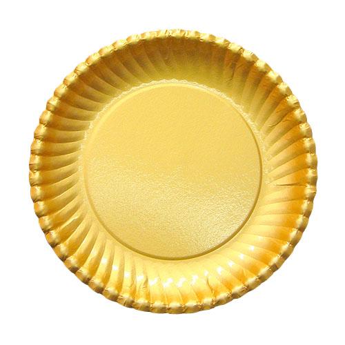 紙皿ゴールドプレート(菊型)7号 1500枚