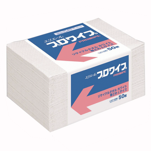 エリエール プロワイプリサイクルタオル帯どめLサイズ 12パック