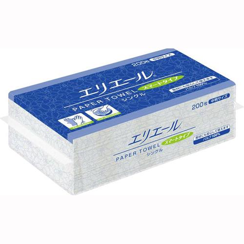 エリエール ペーパータオルスマートタイプシングル(中判) 30パック