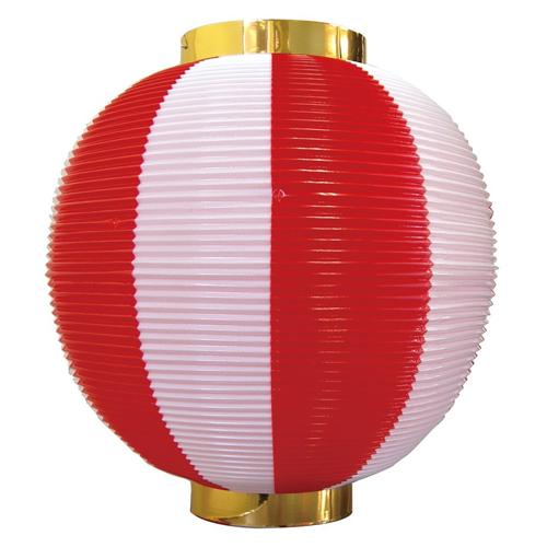 ポリ提灯・提燈(ちょうちん) 8872 尺丸 赤白