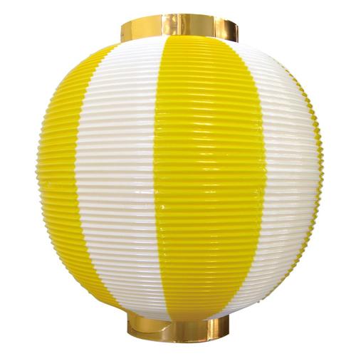 ポリ提灯・提燈(ちょうちん) 8873 尺丸 黄白