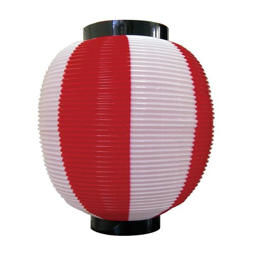 ポリ提灯・提燈(ちょうちん) 8877 九寸丸 赤白