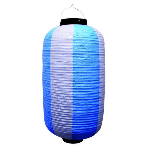 提灯・提燈(ちょうちん) 9166 祭装飾 青白 9長