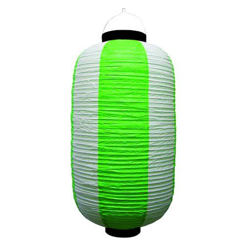 提灯・提燈(ちょうちん) 9169 祭装飾 緑白 9長